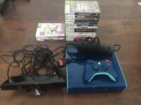 Xbox 360 limited edition console and controller with Xbox Kinect and 14 games