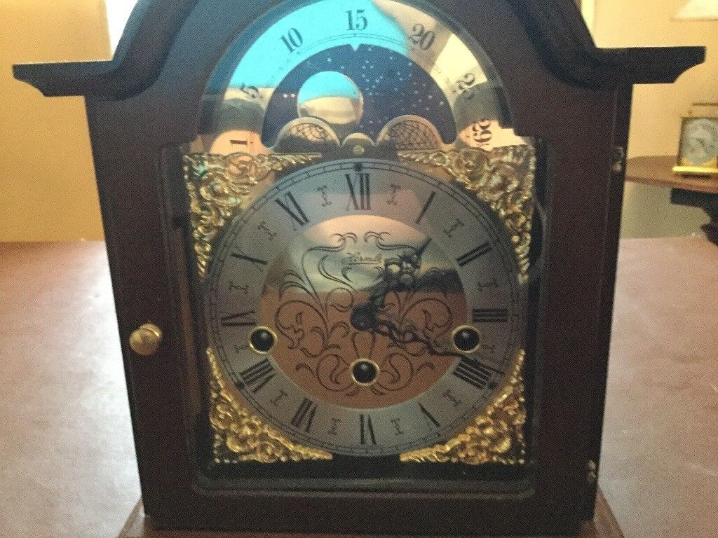 Westminster chime clock by Hermle of Germany