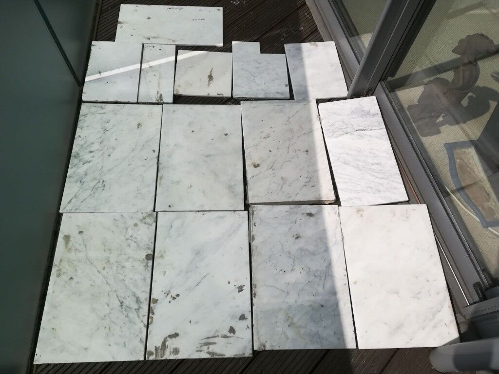 100% Marble Stone Bathroom Floor Tiles used - FREE TO COLLECT | in ...