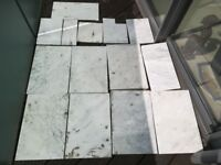 100% Marble Stone Bathroom Floor Tiles used - FREE TO COLLECT