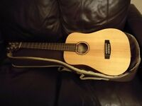 Cort Earth Mini 3/4 size acoustic travelling guitar with padded case