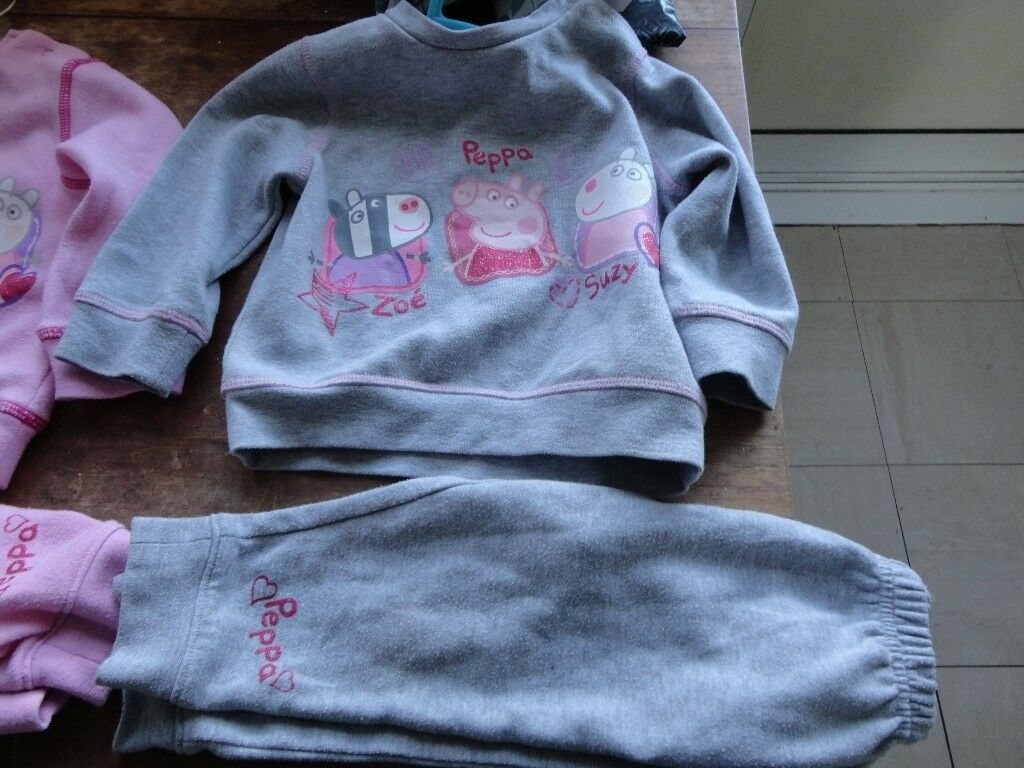 9c525c841 two sets of peppa clothes 18 mouths old pink and grey look