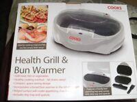HEALTH GRILL & BUN WARMER (Brand New & Boxed)