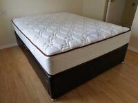 King size divan bed & mattress (used)