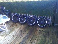 Set of Arays alloy wheel 4 stud multi fit