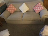 Sofa 3 seater in oatmeal (Laura Ashley) in good condition to sell due to house move.