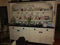 Kitchen dresser, dishwasher, granite top island