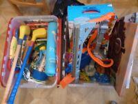 Assortment of kids stuff: toys, books, CDs, lamp, puzzles