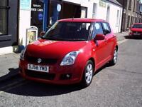 SUZUKI SWIFT 1.3 GLX 5dr (red) 2008