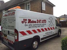 247 mobile car mechanic diagnostics brakes breakdown roadside van mech jump start fuel drain mobile