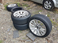 "DARE BMW 19"" Alloy Wheels 275/40/ZR19 - 5 Stud Alloy Wheels for BMW Volkswagen Seat Golf Mercedes"