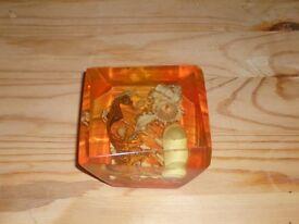 Orange Vintage Resin Paperweight