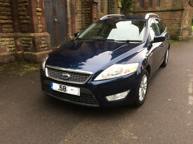 ford mondeo estate 2008 blue titanium spec tinted windows