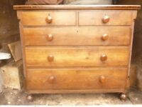 Early Welsh Oak Chest of Drawers