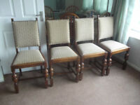 Set of four dining chairs