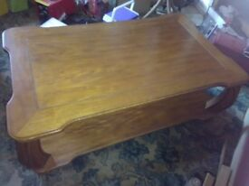 For sale solid wood coffee table