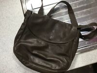 Beige leather hand bags Enny