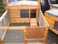 "hutches and welfare hutches 48""wide from £35.00 7days 07889465089 up from hampden park all robust"