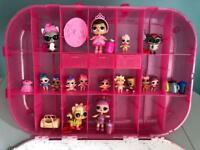 LOL 15 dolls with accessories & storage/carrier case