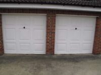 Two Up & Over Canopy Garage Doors with Frames.