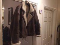 Men's Vintage Sheepskin Jacket / Winter Coat For Sale Size 40