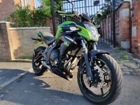LOW MILEAGE - 2014 Kawasaki er-6n er6n 650cc Green Sports bike ABS - Dual cylinder | Heated Grips