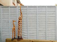 decorative giraffe s x2