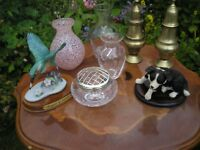 Job lot - Ornaments, Dogs, posy vase, King Fisher, £5 for the lot.