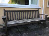 Heavy duty Teak garden bench.
