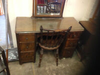vintage retro dressing table dresser antique with mirror drawer chair Salisbury