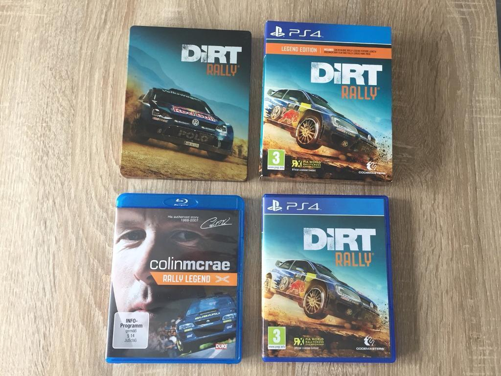 DIRT Rally Legend Edition PS4 Game With Steelbook
