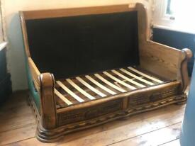 Ornate Wood Carved Sofa 2 seater