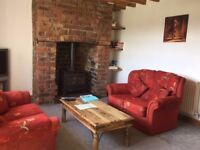 2 x Double Sofas, Excellent Condition with cushions
