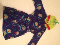 Boy's cosy dressing gown Age 4-5 yrs