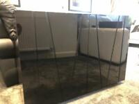 High Gloss Black Cabinet