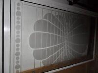 White panel shell bath shower screen