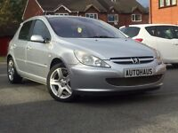2003 Peugeot 307 2.0 HDi D-Turbo 5dr (a/c) CRUSE CONTROL + LEATHER + BLUETOOTH not vauxhall astra