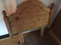 Pine head board