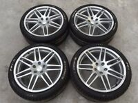 "GENUINE OEM AUDI, VW, S-LINE, LE MANS, RS4 ALLOY WHEELS 19"" WITH GOOD TYRES"
