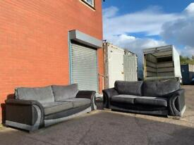 Grey & Black Sofas delivery 🚚 sofa suite couch furniture