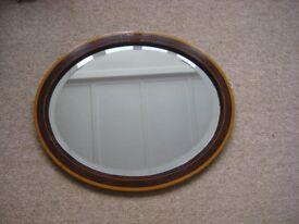 Oval Edwardian Wall Mirror
