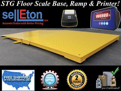 Industrial Pallet Floor Scales 4 X 4 With Ramp Printer 10000 Lbs X 1 Lb