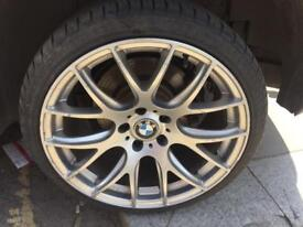 """19"""" bmw csl style alloy wheels and tyres"""