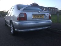 Sporty silver MG ZS 5 door hatchback