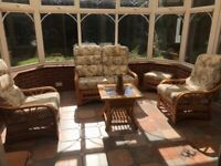 Set of Wicker Conservatory Furniture
