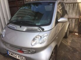 SMART FOR TWO CABRIOLET. Non Runner. Good Project car. Lots previously spent.