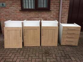 Kitchen units and drawers