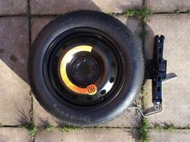 Spacesaver spare wheel/Jack for Ford Ka/Fiat500/Abarth 500