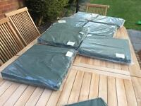 Garden chair pads green