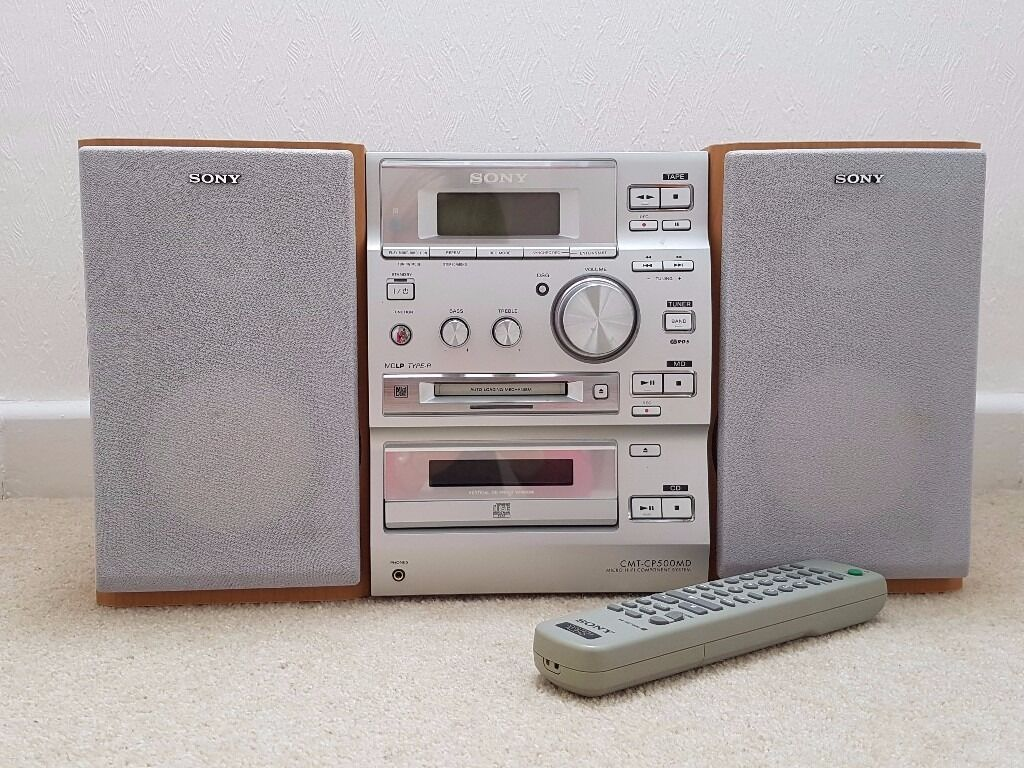 sony radio cd player mini disc recorder player with. Black Bedroom Furniture Sets. Home Design Ideas